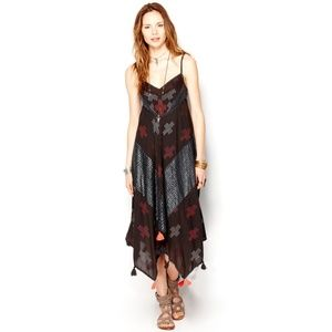 Free People 'Crossing Paths' Dress in Washed Black